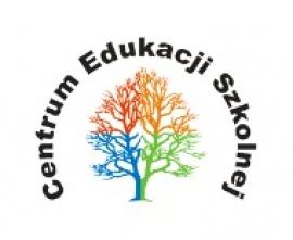 Logo Centrum Edukacji Szkolnej - kolorowe drzewo z nazwą centrum