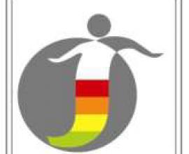 Logo Śródmiejskiego Festiwalu Talentów - kolorowa syrenka na tle szarego koła