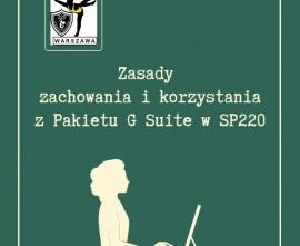 Zasady  zachowania i korzystania z Pakietu G Suite w SP220